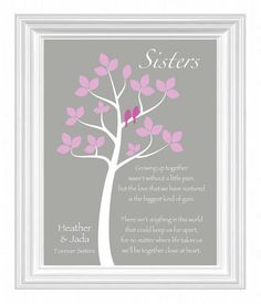 Sisters Gift Print Personalized For By Kreationsbymarilyn 15 00 Gifts Your Sister Christmas