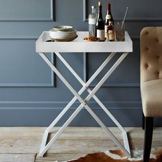 Image result for west elm white tray table