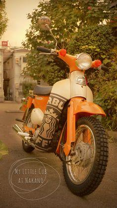My Little Cub at Nakano 03 Vintage Motorcycles, Cars And Motorcycles, Moto Car, Honda Cub, Mopeds, Bike Life, Scrambler, Vespa, Scooters