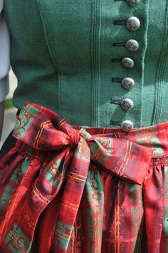 Dirndl detail. Repinned by www.mygrowingtraditions.com