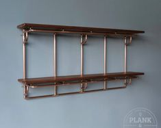 Laying pipe Copper Pipe Shelving Unit - 2 Tier Large - Fill those shelves with Whiskey and Gin for a Copper Shelving, Copper Shelf, Craft Shelves, Wood Shelves, Kitchen Shelves, Display Shelves, Handmade Shelving, 15mm Copper Pipe, Style