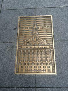 Beautiful piece set in sidewalk.