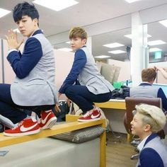 Rap Monster is just sitting and enjoying the show like:😍😍😍😍😍