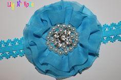 Aqua Grace Collection Pearl by LilyNRoseHeadbands, Baby Headbands, Aqua, Brooch, Pearls, Stuff To Buy, Collection, Jewelry, Fashion, Moda