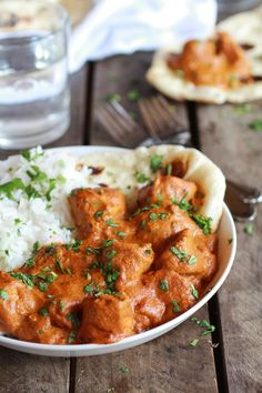 Easy Healthier Crockpot Butter Chicken (would need to find some of these non-traditional spices though)