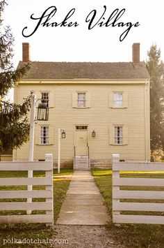 Shaker Village in October - Pleasant Hill, Kentucky This kind of looks like my house
