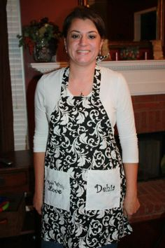 Custom aprons , your theme .... even your name :) made by Fried Green Aprons