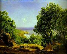 Nikolai Ge - Livorno. Straße zum Meer in der Nähe von Livorno Antiniano