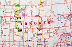 map of toronto - A map of the city of Toronto in Ontario, Canada