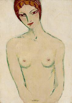 Kees Van Dongen (1877-1968)  Woman's bust. Nude (Buste de Femme), 1916