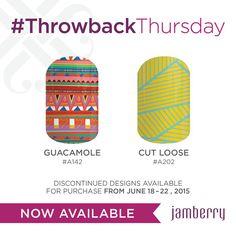 #throwbackthursday #tbt #jamberry #guacamole #guacamolejn #cutloose #cutloosejn  racheloldaker.jamberrynails.net