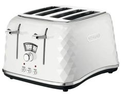 De'Longhi Brillante CTJ4003W 4-Slice Toaster White Toaster, Best Waffle Maker, Electric Toaster, Stainless Steel Toaster, Sandwich Toaster, Smoothie Makers, Cord Storage, Good Find, Toast