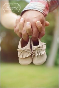 When my 4th child, a boy, was born - there was an American Indian woman that went to the same church as us, and she made him some adorable moccasins - a little darker, and more decorated than these. I loved them.