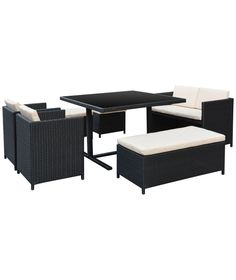 Buy 7 Piece Rattan Cube Garden Set at Argos.co.uk - Your Online Shop for Garden table and chair sets.