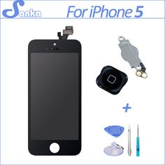 >> Click to Buy << SANKA AAA for iPhone 5 LCD Touch Screen Replacement + Display Digitizer+Home Button Mobile Phone Parts LCD Screen Black #Affiliate