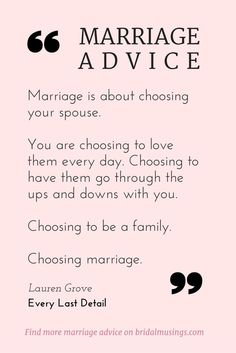Quotes About Love – My Number One Piece of Marriage Advice Quotes About Love Description Marriage is a choice. Beautiful advice from Lauren Grove of Every Last Detail® Read more tips for a happy. Marriage Relationship, Marriage Tips, Love And Marriage, Quotes Marriage, Marriage Thoughts, Strong Marriage, Marriage Challenge, Relationship Marketing, Marriage Romance