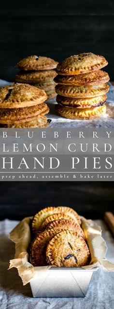 Prep ahead, assemble and bake later. Blueberry Lemon Curd hand Pies are easy to make and fun to share. Don't forget to share with a scoop of vanilla bean ice cream!