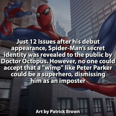 Thats messed up... Peter Parker is a beautiful creature that should not be treated this way... all wrapped up in spandex.