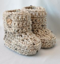 crochet baby booties / etsy