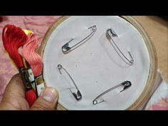 4 safety pin 2020 amazing flower trick hand embroidery - YouTube