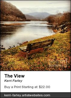 The View - By Kerri Farley #Hinton #WV #WestVirginia #Bellepoint #mountains #bench