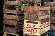 Fruit crates at the market