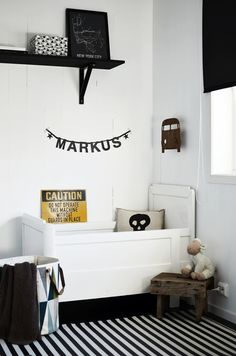 Search Results for label/barnerom White Kids Room, White Boys, Picture Shelves, Picture Walls, Kids Bedroom Designs, Kids Corner, Home And Deco, Kid Spaces, Kids Decor