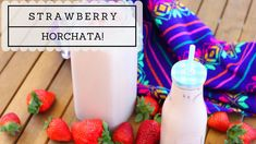 How to make Strawberry Horchata! #mexicandrinks #horchata #strawberry #strawberryhorchata
