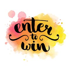 enter to win. giveaway banner for social media contests and promotions. vector hand lettering at colorful watercolor background. Body Shop At Home, The Body Shop, Enter To Win, Watercolor Background, Cake Background, Background Ideas, Color Street, Plexus Products, Hand Lettering