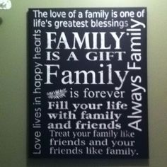 Cute little family poster