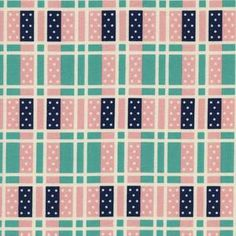 Kimberly Kight - Lucky Strikes - Domino Plaid in Turquoise