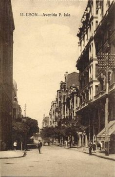 León, fotos antiguas, avda Padre Isla, década de 1930