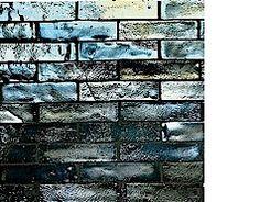 Walker Zanger Offset Field (sheet mounted): 1'' x 4'' Pewter Iridescent