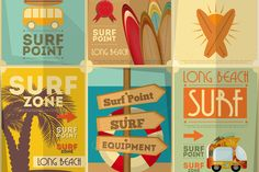 Find Surf Retro Posters Collection Vintage Design stock images in HD and millions of other royalty-free stock photos, illustrations and vectors in the Shutterstock collection. Thousands of new, high-quality pictures added every day. Surf Vintage, Surf Retro, Vintage Surfing, Vintage Travel, Illustrations, Graphic Illustration, Style Retro, Poster S, Surfs Up