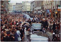 President John F. Kennedy visits Cork, Ireland via reddit