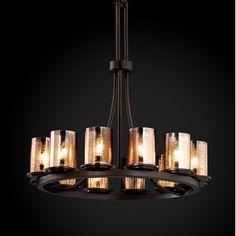Justice Design Group Fusion Dakota 12 Light Ring Chandelier
