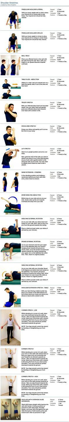 Shoulder Stretches Frozen Shoulder Exercises, Shoulder Stretches, Shoulder Workout, Rotator Cuff Exercises, Rotator Cuff Tear, Shoulder Rehab, Shoulder Surgery, Shoulder Pain Relief, Tight Hip Flexors