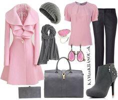 Romantická ružovo šedá - nádhera :) #kamzakrasou #sexi #love #jeans #clothes #coat #shoes #fashion #style #outfit #heels #bags #treasure #blouses #dress