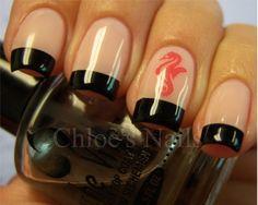 Chloe's Nails: My comfort zone = black tips :)