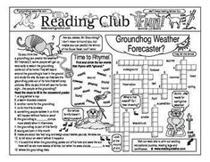 Enjoy a Groundhog Day and Weather-themed Two-Page Activity Set and Crossword Puzzle with this discounted bundle! Includes the following products:   Groundhog Day and Weather Two-Page Activity Set  Groundhog Day and Weather Crossword Puzzle  Groundho