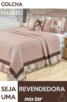 Inspiração Patchwork The bedspread inspired by patchwork composed with neutral tone make the room more elegant while romantic and super cozy. Elegant Homes, Bed Covers, Home Decor Bedroom, Bed Spreads, Bed Sheets, Bedding Sets, Interior Decorating, Blanket, Pillows