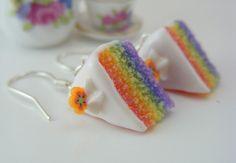 Rainbow Shortcake Earrings...... THESE ARE SOOOOOOOO CUTE WANT THESE!!!!!!!!!!!!!