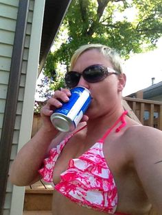 Chillin in the sun with a cold one