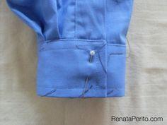 Camisa clássica passo a passo: punhos e bainha