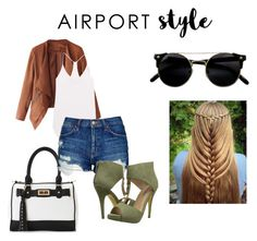 """""""Untitled #39"""" by tyroweowens on Polyvore featuring IMoshion, Enza Costa, Topshop, Michael Antonio, GetTheLook and airportstyle"""