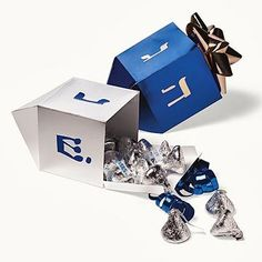 Give a gift in style with these small boxes designed to look like a traditional Jewish dreidel. They're simple to make from card stock./