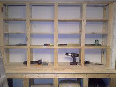 Frame portion of the Wall Hutch I made for the trailer home