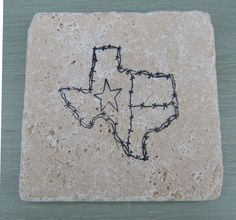 State of Texas Marble Style Coasters by CircleOakTreasures on Etsy