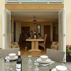 Dual colour timber bifolding doors from WWA member, George Barnsdale Timber Windows, Wooden Windows, Windows And Doors, Contemporary Windows, Window Frames, Colour, Mirror, Modern, Furniture