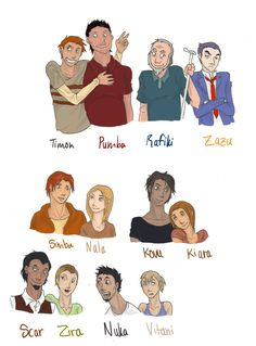 Lion King Characters HUMANS by rhymeswithmonth.deviantart.com on @deviantART